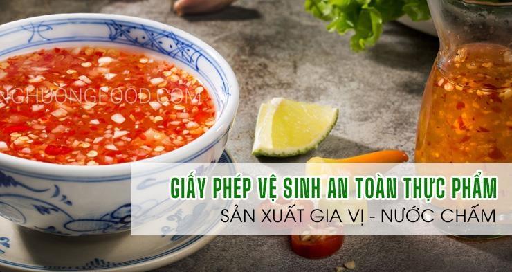 ATV-Giấy phép an toàn thực phẩm sản xuất gia vị, nước chấm tốt nhất Sài Gòn