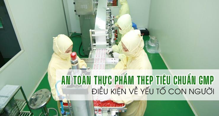 ATV-Yếu tố con người trong tiêu chuẩn GMP sản xuất thực phẩm chức năng (TPCN)